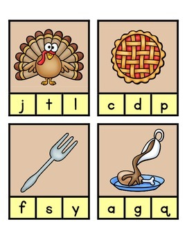 Beginning Sounds - Thanksgiving