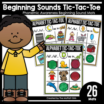 Beginning Sounds Tic-Tac-Toe: Phonemic Awareness