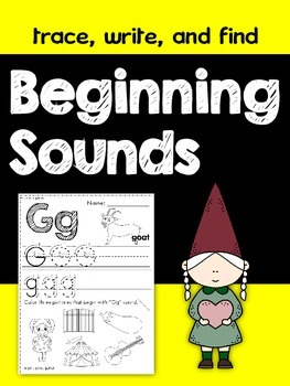 Beginning Sounds (Trace, Write, and Find)