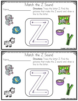 Beginning Sounds Tracing and Matching (Color Version)