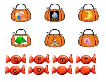 Beginning Sounds Trick or Treat Learning Center