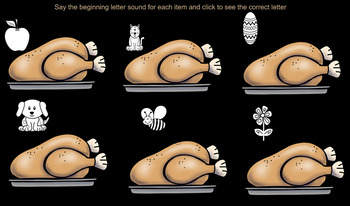 Beginning Sounds Turkeys