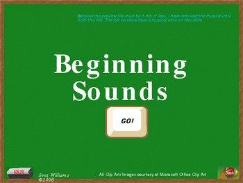 Beginning Sounds U - Z Interactive PowerPoint