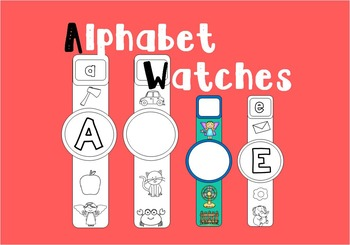 Beginning Sounds Watches or Alphabet Watches