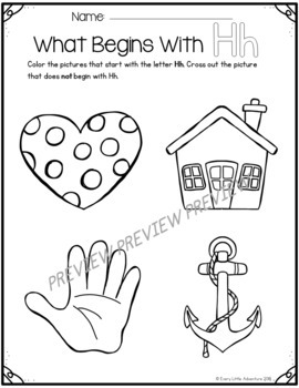 "Beginning Sounds ""What Starts With__?"" Worksheets (A-Z)"