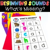 Beginning Sounds What's Missing Phonics Activity Literacy Center