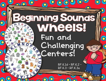 Beginning Sounds Wheels! Lots of ABC Center Activities ~ Phonics