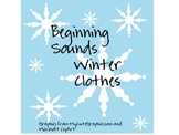 Beginning Sounds- Winter Clothes
