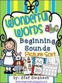 Beginning Sounds {Wonderful Words!} Picture Sort