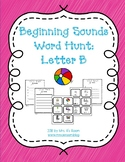 Beginning Sounds Word Hunt/Write the Room: Letter B
