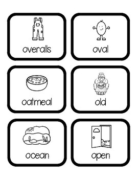 Beginning Sounds Word Hunt/Write the Room: Long O