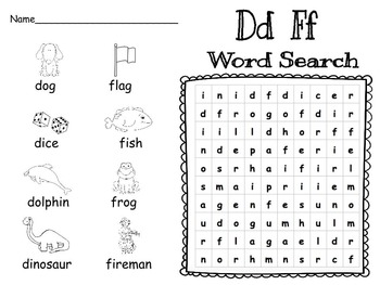 Consonant Word Searches with Pictures: Words their Way