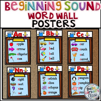 Beginning Sounds Word Wall Posters
