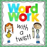 Beginning Sounds Word Work