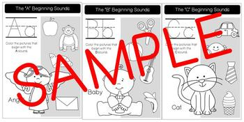 Beginning Sounds Workbook (Color and Trace)