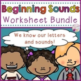 Beginning Sounds Worksheet Bundle