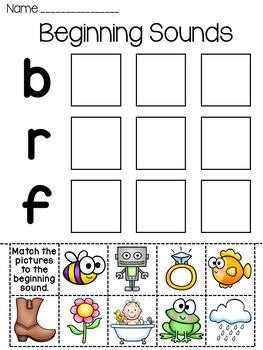 Beginning Sounds Sort Worksheets by Miss Giraffe | TpT