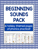 Language Arts - Beginning Sounds Worksheet Pack