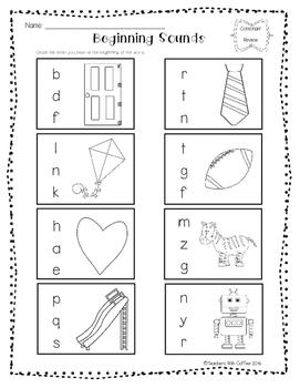 Beginning Sounds Worksheet Pack
