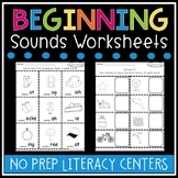 Beginning Sounds Worksheets - Beginning Sounds Literacy Center Activities