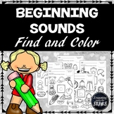Beginning Sounds Worksheets (Find and Color)