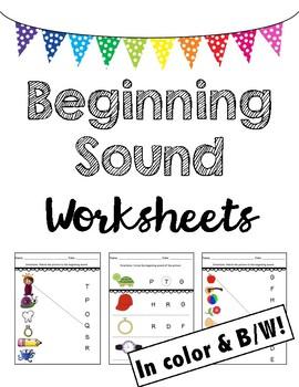 Beginning Sounds Worksheets (Match & Identify)