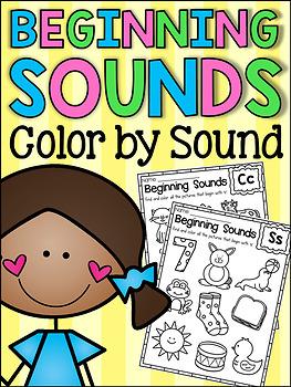 Beginning Sounds Worksheets - Color by Sound