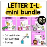 Beginning Sounds Worksheets Letter I to Letter L Mini BUNDLE