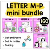 Beginning Sounds Worksheets Letter M to Letter P Mini BUNDLE