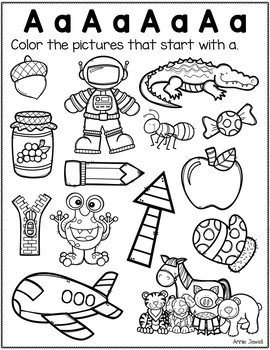 Beginning Sounds Worksheets –  Letter Sound Practice FREE SAMPLE