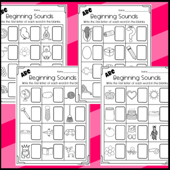 Beginning Sounds Worksheets: Letters of the Alphabet