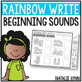 Beginning Sounds Worksheets: Rainbow Write & Match