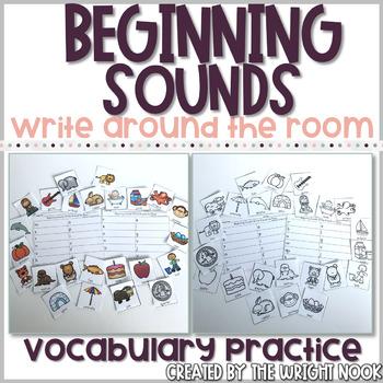 Beginning Sounds Write Around the Room