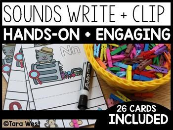 Beginning Sounds Write + Clip It