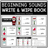 Beginning Sounds Write & Wipe Book: Christmas Words