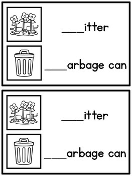 Beginning Sounds Write & Wipe Book: Earth Day Words