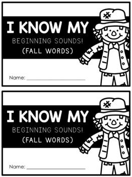 Beginning Sounds Write & Wipe Book: Fall Words