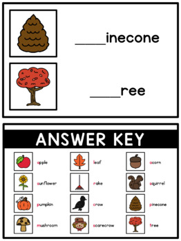 Beginning Sounds Write & Wipe Book: Fall Words