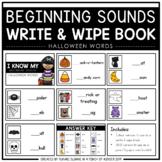Beginning Sounds Write & Wipe Book: Halloween Words