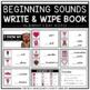 Beginning Sounds Write & Wipe Book - Holidays Bundle -