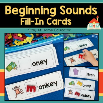 Beginning Sounds Fill-In Cards