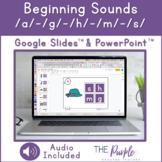 Beginning Sounds /a/ /g/ /h/ /m/ /s/