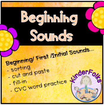 Beginning Sounds- activities for learning first or initial sounds in words