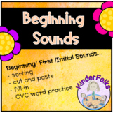 Beginning Sounds- activities for learning first or initial