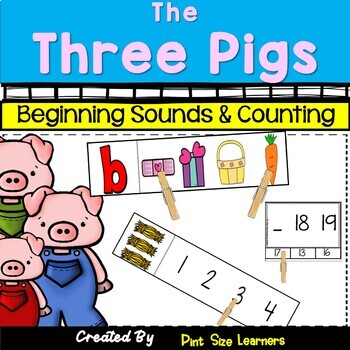 Beginning Sounds and Counting Activities With The Three Pigs