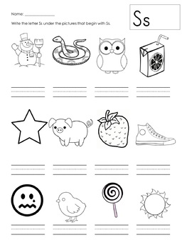 Beginning Sounds and Handwriting (A-Z)