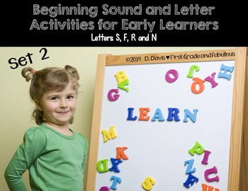 Beginning Sounds and Letter Activities (with Letters S, F, R and N)