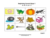 Beginning Sounds and Letters - Bingo Cards 1