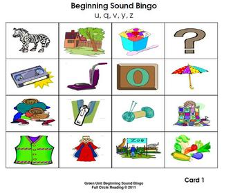 5 letter words with c and z beginning sounds and letters bingo cards 5 by 18640