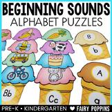 Beginning Sounds Ice Cream Puzzles {Alphabet}